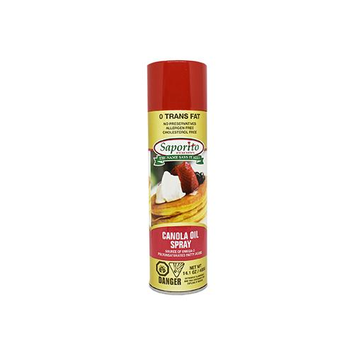 Canola Spray Saporito 400g x 6 Cans