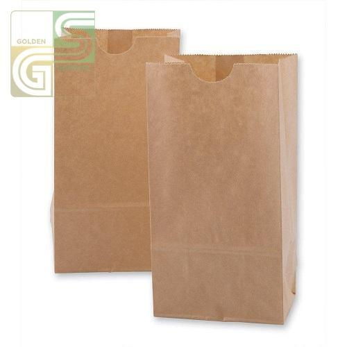 "10lb Kraft Grocery Bag (6 1/2""*3 15/16""*13 3/8"") 500/bundle-Golden Supplies Ltd"