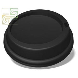 10oz to 24oz Black Dome Lids 1000/cs-Golden Supplies Ltd