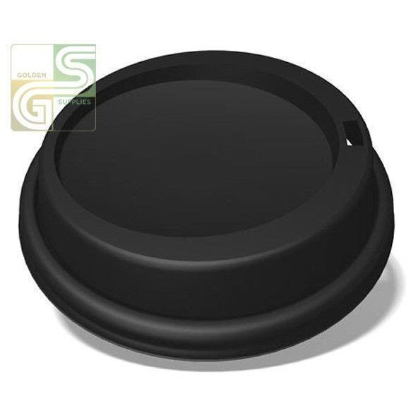 10oz to 24oz Black Dome Lids 50/sl-Golden Supplies Ltd