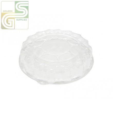 "12"" Dia. Clear Plastic Dome Lid 50 Per Case-Golden Supplies Ltd"