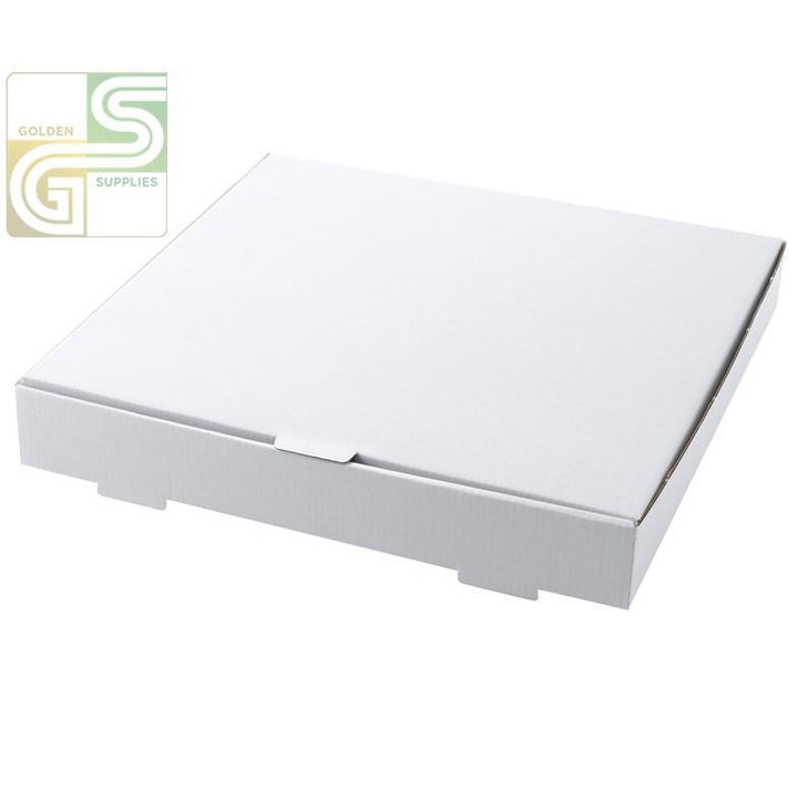 "12"" Pizza Box White 12"" x 12"" x 2"" 50 Pcs-Golden Supplies Ltd"