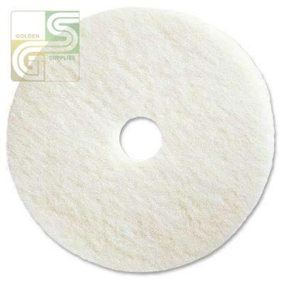 "12"" White Super Polish Floor Pad 5 Pcs-Golden Supplies Ltd"