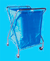 Laundry Metal X-Frame Cart + Bag