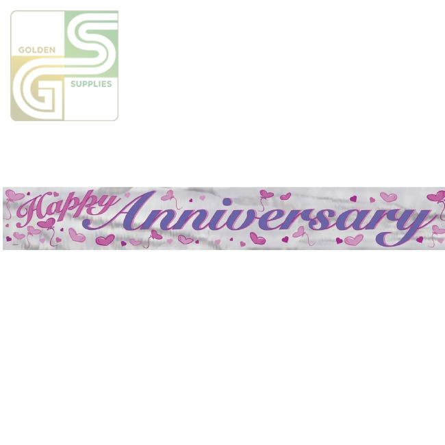 12ft Happy Anniversary Banner-Golden Supplies Ltd
