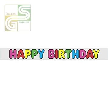 12ft Happy Birthday Banner-Golden Supplies Ltd