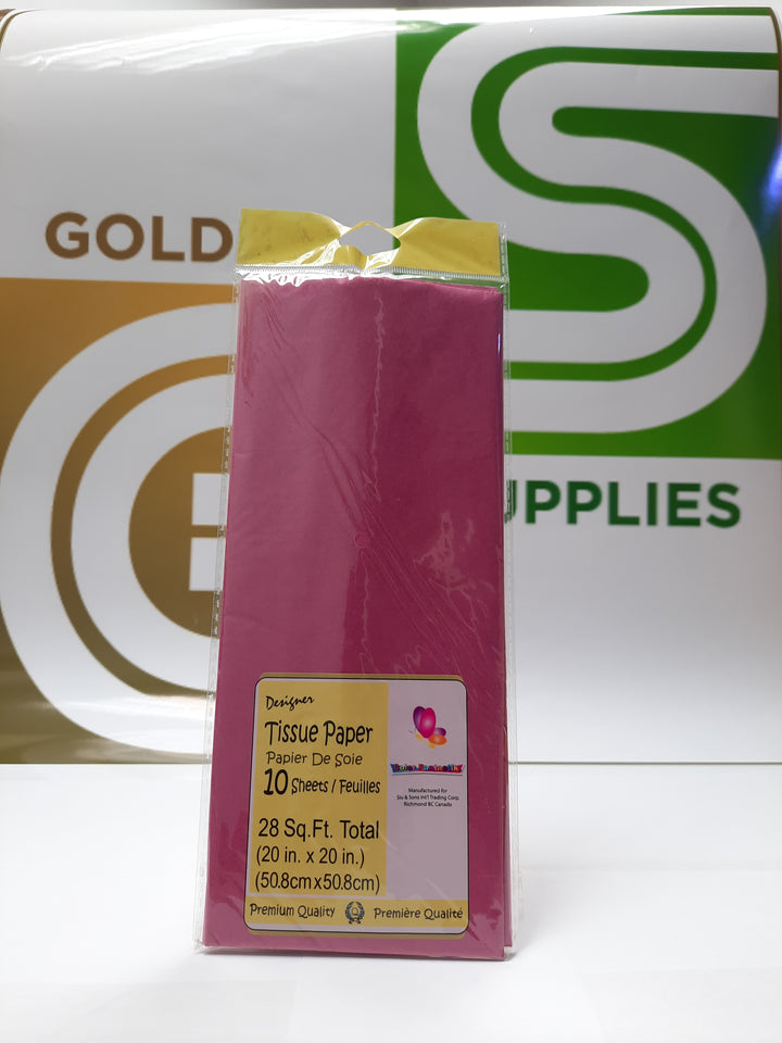 Premium Color Tissue Fuchsia 10 Pcs
