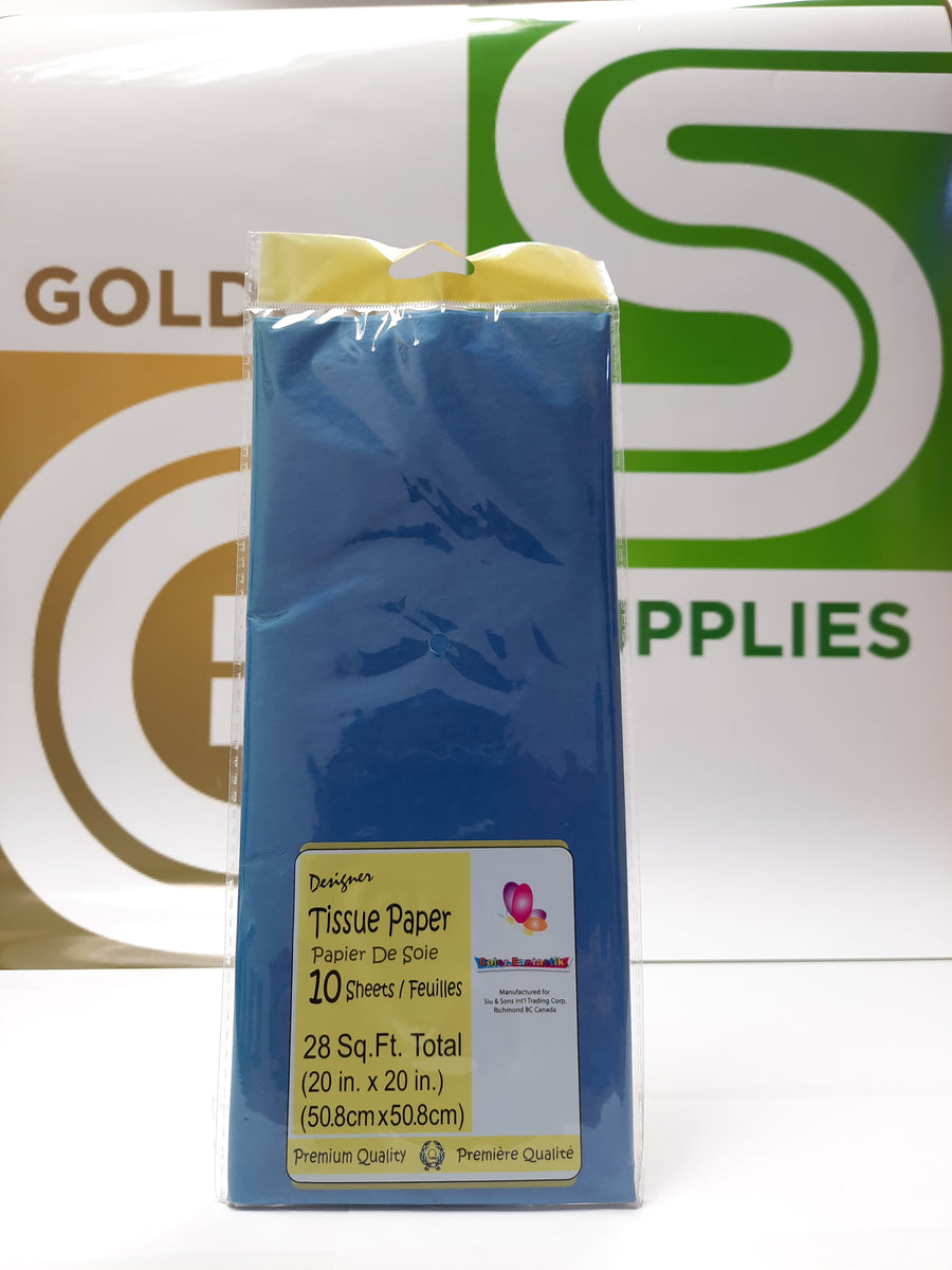 Premium Color Tissue Royal Blue 10 Pcs