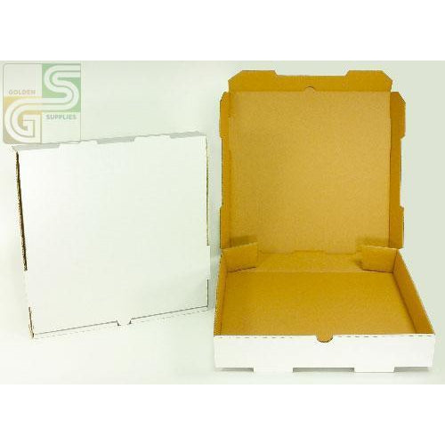 "14"" Pizza Box White 14"" x 14"" x 2"" 50 pcs-Golden Supplies Ltd"