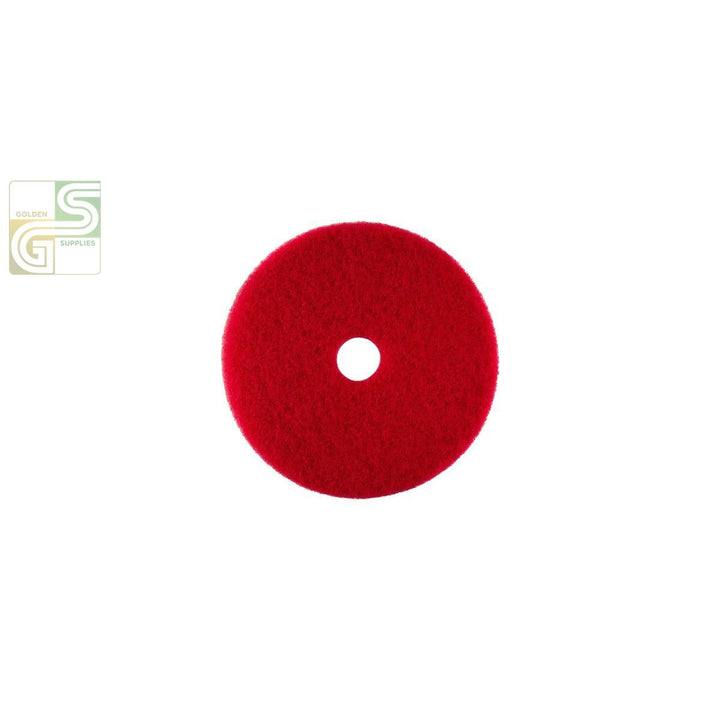 "14"" Red Spray Buff Floor Pad 5 Pcs-Golden Supplies Ltd"