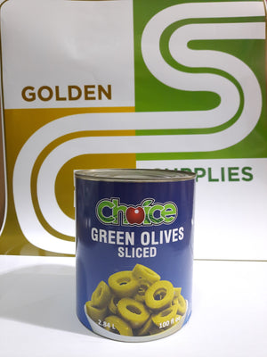 Sliced Green Olives 100oz x 6 Cans