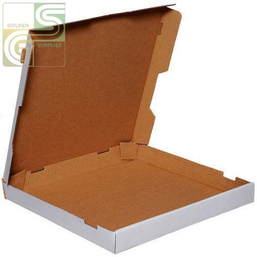 "18"" Pizza Box White 18"" x 18"" x 2"" 50 pcs-Golden Supplies Ltd"