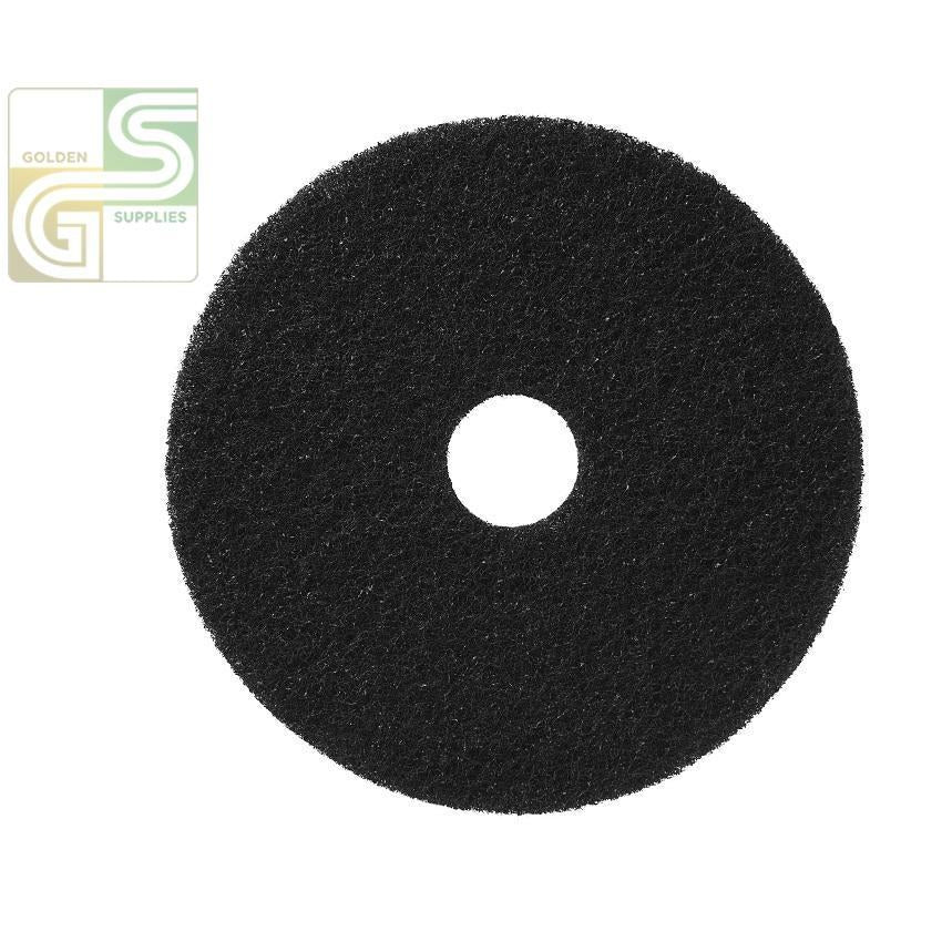 "20"" Black Strip Floor Pad 5 Pcs-Golden Supplies Ltd"