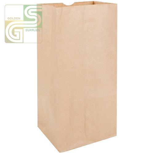 "20lb Kraft Grocery Bag (8 1/4""*5 1/4""*16 1/8"") 500/Bundle-Golden Supplies Ltd"