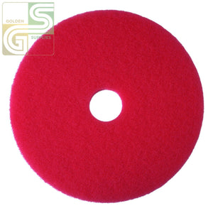 "21"" Red Spray Buff Floor Pad 5 Pcs-Golden Supplies Ltd"