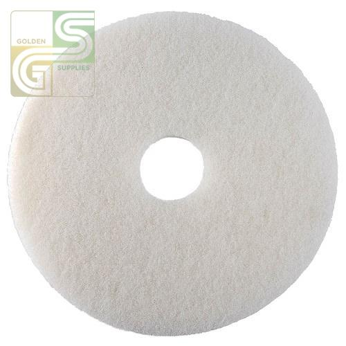 "21"" White Floor Pad 5 Pcs-Golden Supplies Ltd"