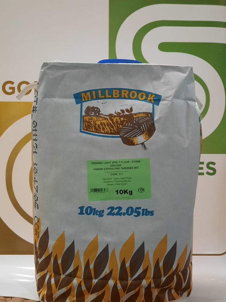 Millbrook - Organic Light Spelt Flour - Stone Ground 10kg