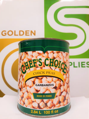 Chefs Choice - Chick Peas (Chana) 100oz x 6 Cans
