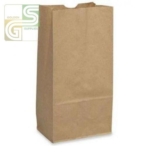 "2lb Kraft Grocery Bag (4 1/8""*2 1/2""*8 1/8"") 500/Bundle-Golden Supplies Ltd"