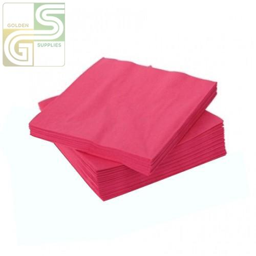 2ply Fuschia Beverage Napkins 30 Pcs-Golden Supplies Ltd