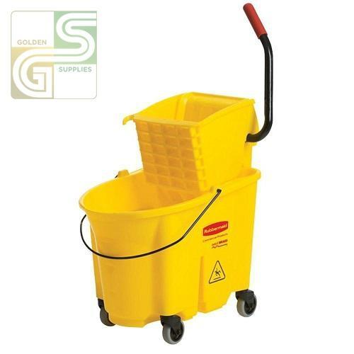 35 Qt Sidepress Combo Bucket Wave Brake Rubbermade-Golden Supplies Ltd