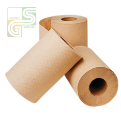"350' x 8"" Brown Hand Towel Roll 12 Rolls / Box-Golden Supplies Ltd"