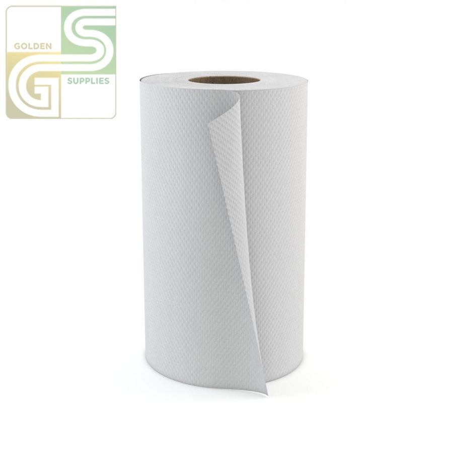 "350' x 8"" Wht Hand Towel Roll 1 Roll-Golden Supplies Ltd"