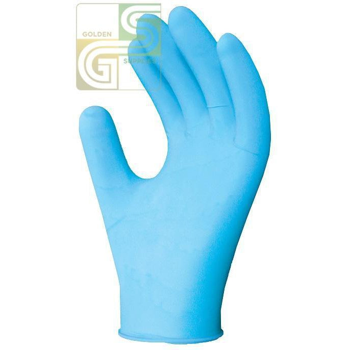 395 Nitech Blue Glove Xl 100 Pcs x 1 Box =100 Pcs-Golden Supplies Ltd