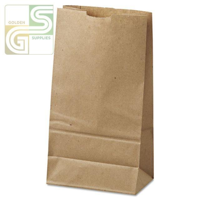 "3lb Kraft Grocery Bag (4 5/8""*2 7/8""*8 5/8"") 500/Bundle-Golden Supplies Ltd"