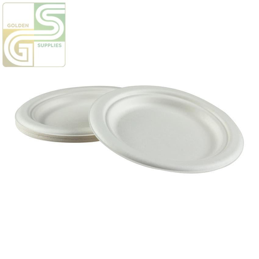 "6"" Bagasse Plate 1000 / Case-Golden Supplies Ltd"