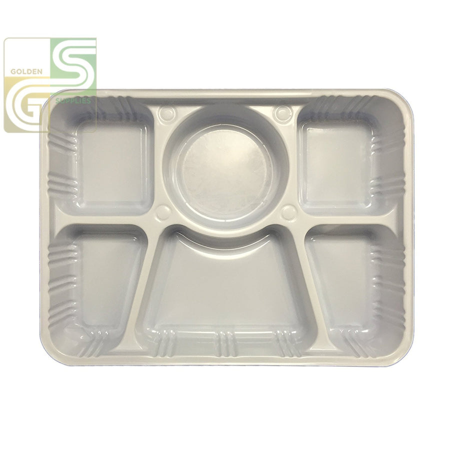 6 Comp Plastic Trays 50 Pcs x 1=50 Pcs-Golden Supplies Ltd