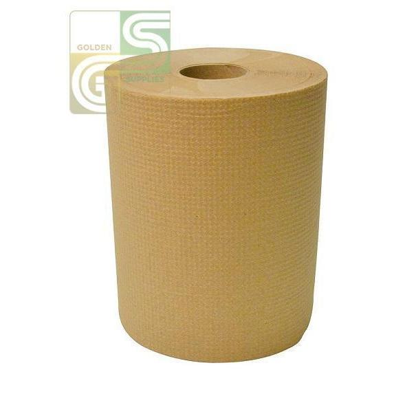 600' x 8' Brown Hand Towel Roll 12 / Box-Golden Supplies Ltd