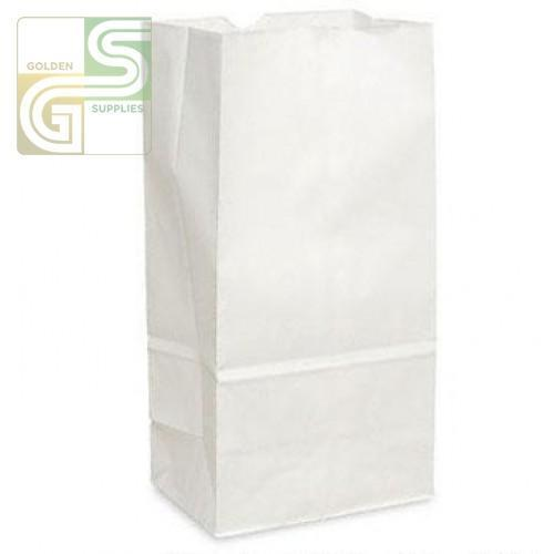 "6lb White Grocery Bag (5 15/16""*3 5/8""*11"") 500/Bundle-Golden Supplies Ltd"