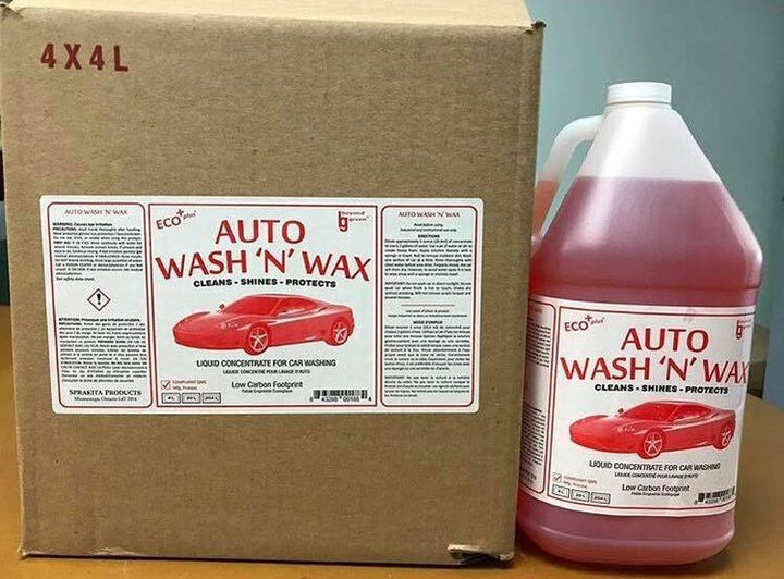 Auto Wash 'n' Wax Sprakita 4L x 4 Jugs