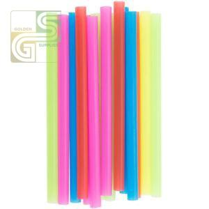 "8"" Assorted Colours Straw Unwrapped 600 Pcs-Golden Supplies Ltd"