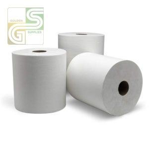 800' x 8' Wht Hand Towel Roll 6 Rolls / Box-Golden Supplies Ltd