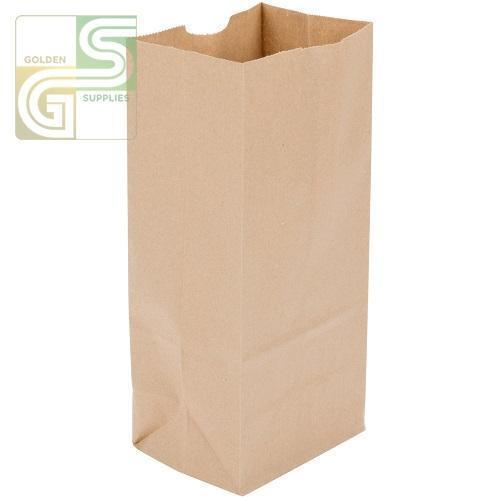 "8lb Kraft Grocery Bag (6""*4""*12 1/4"") 500/Bundle-Golden Supplies Ltd"