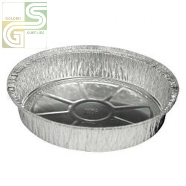 "9"" Round Aluminium Pans 280/cs-Golden Supplies Ltd"