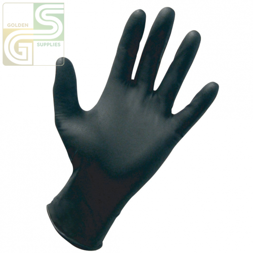 984 Nitrile Blk Glove Lg 100 Pcs x 1 Box=100 Pcs-Golden Supplies Ltd