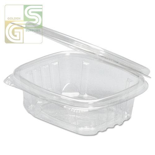 "(Ad08) 8oz Hinged Deli Containers (5.38*4.5*1.5"") 100 Pcs-Golden Supplies Ltd"