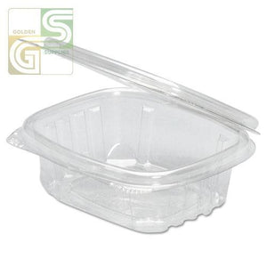 "(Ad08) 8oz Hinged Deli Containers (5.38*4.5*1.5"") 200 Pcs-Golden Supplies Ltd"