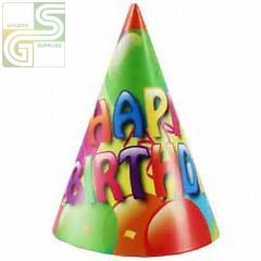 Ballon Party Hats 6 Pcs-Golden Supplies Ltd