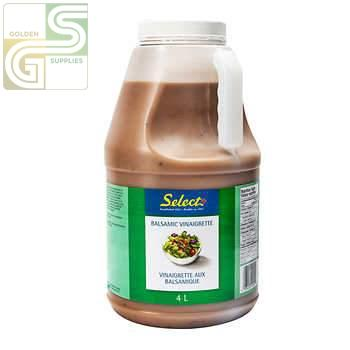 Balsamic Vinaigrette Select 4L x 1 Jug-Golden Supplies Ltd
