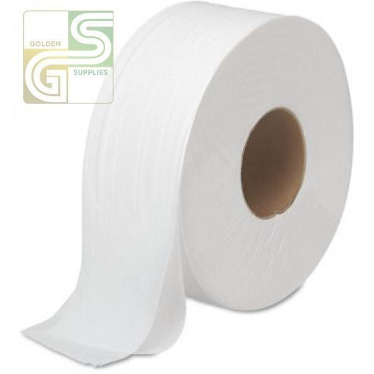Bathroom Tissue Jrt 2 Ply 1000 Ft Core 3.3' 8 Rolls / Box-Golden Supplies Ltd