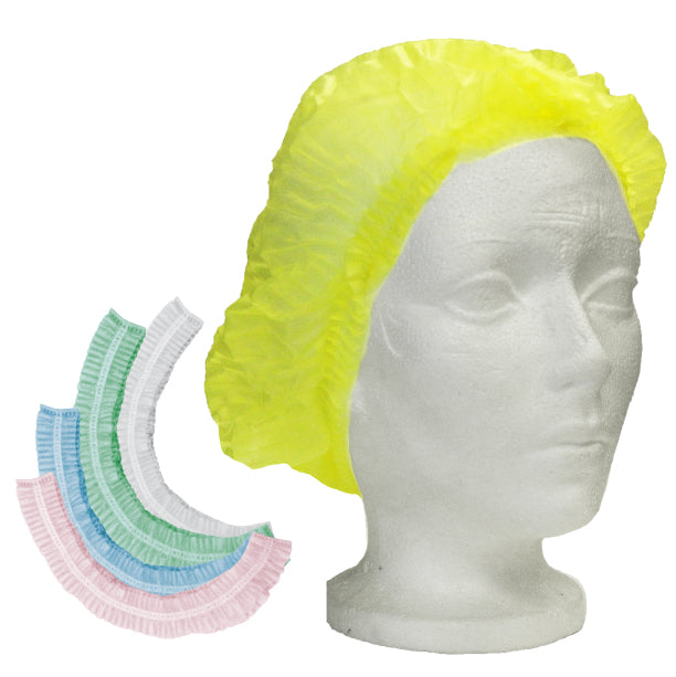Hair Nets White Pleated 100 Pcs x 1 Bag=100 Pcs