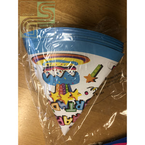 Birthday Sparkle Party Hats 6 Pcs-Golden Supplies Ltd