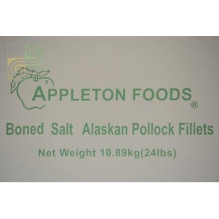 Boned Salt Alskn Pollock Fillets 10oz x 40 Pcs 24lbs-Golden Supplies Ltd