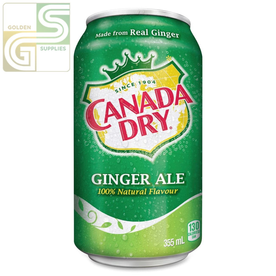 Canada Dry / Ginger Ale 355ml x 24 Cans-Golden Supplies Ltd