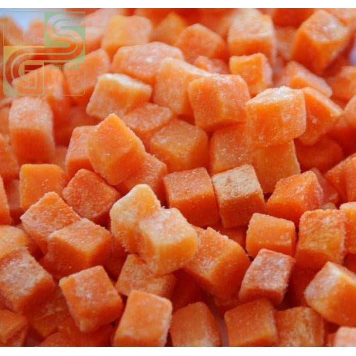 Carrot Dices 1.75 kg x 1 Bag-Golden Supplies Ltd