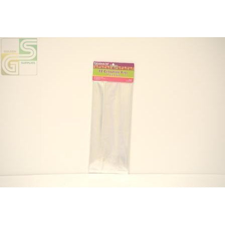 Clear Cellophane Bags 12 Pcs-Golden Supplies Ltd